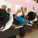 2016Step3小学生 イメトレの描き出しの様子