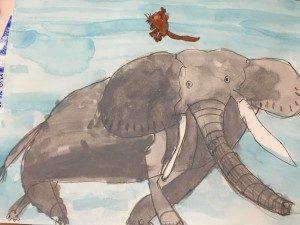年長いろはちゃんの象の絵